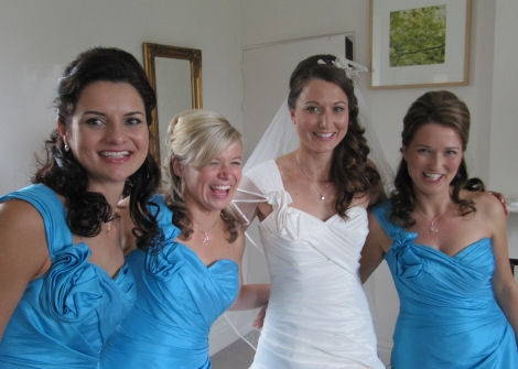 Ruth and Bridesmaids © Bridal Hair by Helen